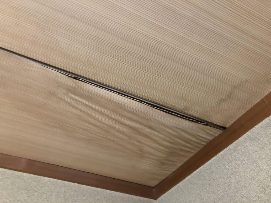 天井の雨漏り箇所