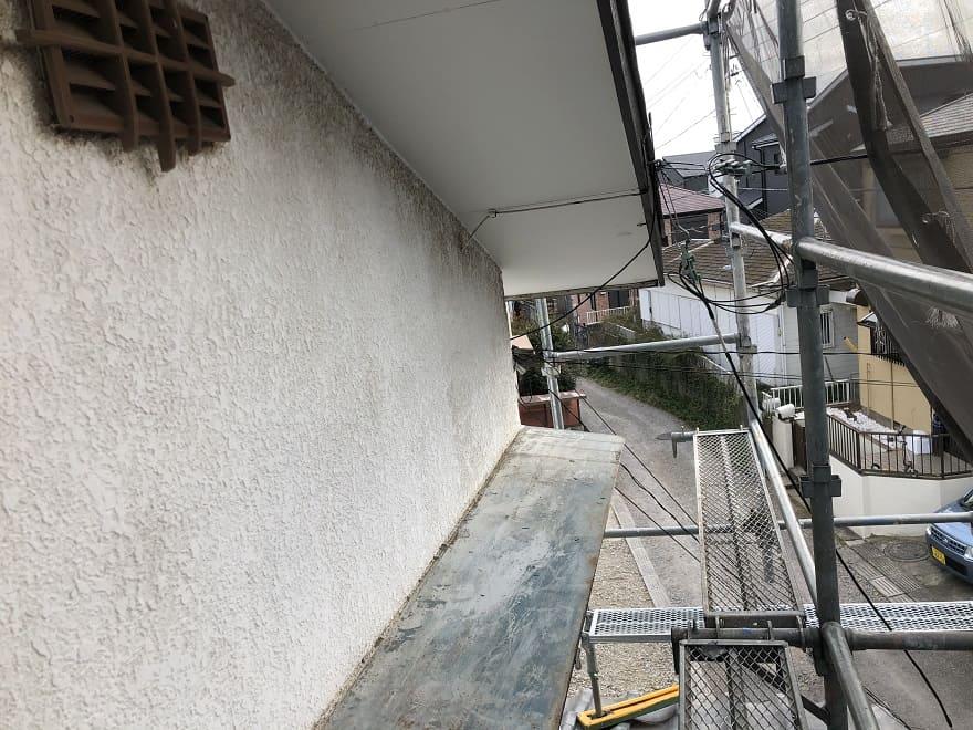 足場に登って2階から見た風景